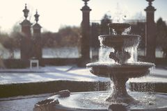 Frozen water fountain macro Royalty Free Stock Photos