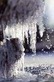 Frozen water fountain macro Royalty Free Stock Image