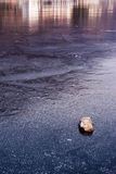 Frozen water of a lake Royalty Free Stock Photography