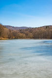 Frozen water at lake Royalty Free Stock Photography
