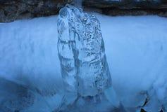 Frozen water. In mountain in winter Stock Images