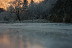 Frozen Water Royalty Free Stock Photography