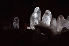 Frozen water Stalagmite Royalty Free Stock Images