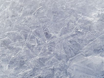 Frozen water texture created by ice crystals Stock Photo