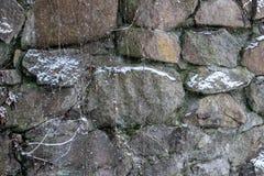 Frozen water, Frozen waterfall. Winter in Ukraine royalty free stock photo