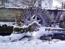 Frozen water wheel royalty free stock photos