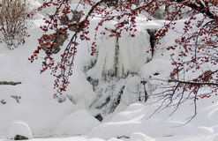 Frozen Waterfall Stock Photos