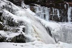 Frozen waterfall Royalty Free Stock Photography