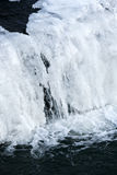 Frozen waterfall. Closeup of frozen waterfall in Winter Royalty Free Stock Photo