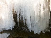 Frozen waterfall. Royalty Free Stock Photography