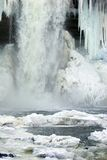 Frozen waterfall. Minnehaha Falls, Minneapolis, Minnesota, in a frozen state Stock Image