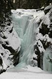 Frozen waterfall. Beautifully frozen waterfall. An excellent opportunity for ice climbers Royalty Free Stock Photos