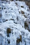 Frozen waterfall. Close up of frozen waterfall Stock Photos