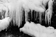 Frozen waterfall Royalty Free Stock Photo