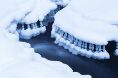 Frozen waterfall Stock Photography