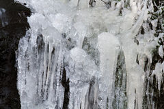 The frozen waterfall Royalty Free Stock Photo