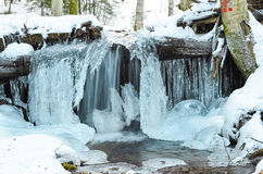 Frozen waterfall Stock Images