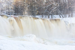 Frozen waterfall in Estonia Stock Images