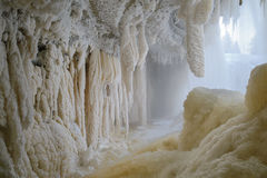 Frozen waterfall flows Royalty Free Stock Image