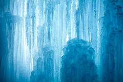 A frozen waterfall with ice Royalty Free Stock Photography