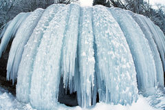 Frozen waterfall. Icefall. Stock Images