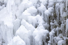 Frozen Waterfall Icicles Closeup Royalty Free Stock Images