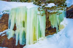 Frozen Waterfall Icicles Royalty Free Stock Image