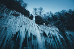 Frozen Waterfall Stock Photo