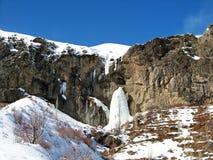 Free Frozen Waterfall In Alborz Mountains Called Sangan Waterfall , Winter Landscape Stock Photos - 182284623