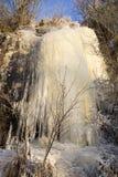Frozen waterfall. In Karelia, Russia Royalty Free Stock Photo