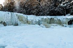 Frozen waterfall Keila-Joa royalty free stock photography