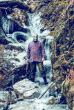 In the frozen waterfall Royalty Free Stock Photo