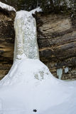 Frozen Waterfall In Michigan�s Upper Peninsula Royalty Free Stock Photos