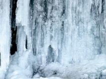 Frozen waterfall. On Mountain Loop Highway in Washington Royalty Free Stock Photos