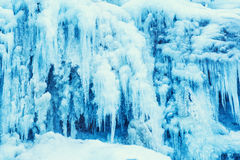 Free Frozen Waterfall Of Blue Icicles Stock Images - 48914444