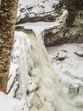 Frozen waterfall in Ricketts Glen Park. Frozen waterfall in Ricketts Glen State Park, Pennsylvania Royalty Free Stock Photography
