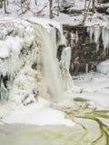 Frozen waterfall in Ricketts Glen Park. Frozen waterfall in Ricketts Glen State Park, Pennsylvania Royalty Free Stock Image