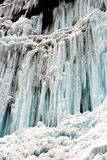 Frozen waterfall and Snow Royalty Free Stock Photography