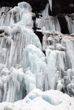 Frozen waterfall and Snow Stock Images