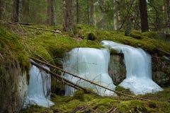 Frozen waterfalls Royalty Free Stock Photos