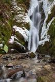 Frozen waterfalls. In wintertime in the Ardennes in Belgium Royalty Free Stock Photo
