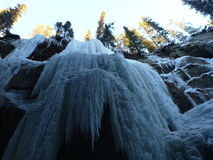 Frozen waterfalls Stock Photos