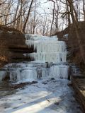 Frozen waterfalls. Frozen like my heart royalty free stock photography