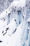 Plitvice Lakes, Croatia. Frozen waterfalls at national park, Plitvice lakes, Croatia stock photos