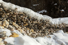 Frozen wave of stones. Stock Photography