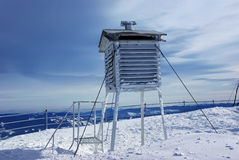 Frozen weather station Stock Photos
