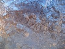 Frozen window. In cold winter 2006 Royalty Free Stock Photo