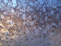 Frozen window. In cold winter 2006 royalty free stock image