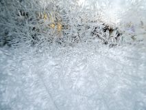 Frozen window - Abstract winter background. 