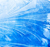 Frozen window background. Frozen window view, abstract background Royalty Free Stock Photos